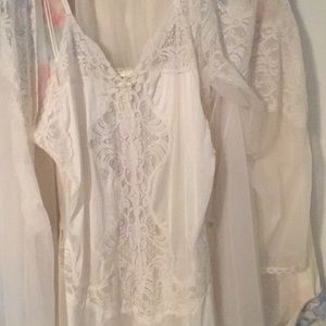 Victoria Secret Long lacy nightgown matching robe